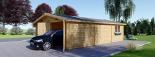 Doppelgarage aus Holz (44 mm) 6x9 m, 54 m² visualization 5