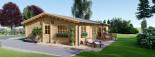 Isoliertes Blockhaus LIMOGES 103 m² visualization 1