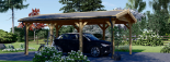 Carport aus Holz für 1 Auto CLASSIC, 3x6 m visualization 2