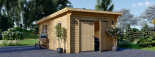 Holzgarage MODERN (44 mm) 4x6 m, 24 m² mit Flachdach visualization 2