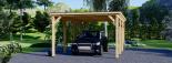 Carport aus Holz für 1 Auto MODERN, 3x6 m visualization 7