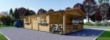 Isoliertes Blockbohlenhaus HYMER 42 m² visualization 6
