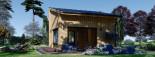 Blockbohlenhaus SOPHIA (44 mm + Vertikale Holzschalung isoliert), 20 m² visualization 8