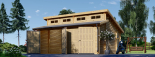 Doppelgarage aus Holz TWIN (44 mm) 6x6 m, 36 m² visualization 5