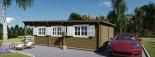 Blockbohlenhaus HYMER (66 mm) 42 m² mit Flachdach  visualization 10
