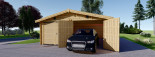 Doppelgarage aus Holz (44 mm) 6x8 m, 48 m² visualization 4