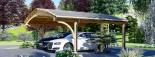 Carport aus Holz für 2 Autos BETSY DUO, 6.1x6 m visualization 5