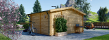 Gartenhaus NINA (44 mm) 6x6 m, 36 m² visualization 5