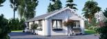Isoliertes Blockbohlenhaus ANICA 71 m² visualization 7