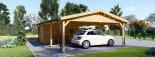 Carport aus Holz für 2 Autos mit Schuppen, 7.7x6 m visualization 8