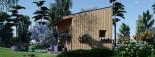 Blockbohlenhaus SOPHIA (44 mm + Vertikale Holzschalung isoliert), 20 m² visualization 6