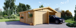 Doppelgarage aus Holz (44 mm) 6x6 m, 36 m² visualization 2