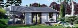 Isoliertes Blockbohlenhaus ADELE 68 m² visualization 3