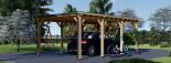 Carport aus Holz für 1 Auto MODERN, 3x6 m visualization 3