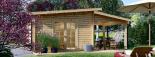Gartenhaus HELEN (44 mm) 6x4 m, 24 m² mit 12.5 m² Terrasse visualization 6