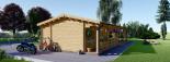 Blockbohlenhaus TOSCANA (44 mm) 50 m² visualization 7