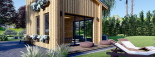 Blockbohlenhaus SOPHIA (44 mm + Vertikale Holzschalung isoliert), 20 m² visualization 10