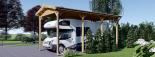 Carport aus Holz für Wohnmobil, 3.5x7 m visualization 6