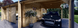 Doppelgarage aus Holz (44 mm) 6x6 m mit Carport 3x6 m, 54 m² visualization 9