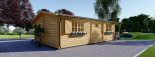 Isoliertes Blockbohlenhaus HYMER 42 m² visualization 5