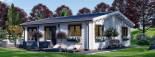 Isoliertes Blockbohlenhaus ALICE 72 m² visualization 5