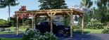 Carport aus Holz für 1 Auto MODERN, 3x6 m visualization 2