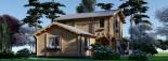 Blockbohlenhaus HOLLAND PLUS (66 mm), 120 m² + 13 m² Terrasse visualization 4