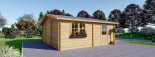Doppelgarage aus Holz (44 mm) 6x6 m, 36 m² visualization 7