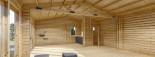 Blockbohlenhaus MARINA (44+44 mm) 48 m² visualization 10