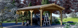 Carport aus Holz für 1 Auto CLASSIC, 3x6 m visualization 4