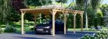 Carport aus Holz für 1 Auto MODERN, 3x6 m visualization 6