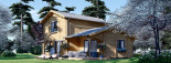 Blockbohlenhaus HOLLAND PLUS (66 mm), 120 m² + 13 m² Terrasse visualization 1