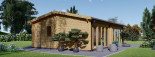 Blockbohlenhaus MARINA (44+44 mm) 48 m² visualization 4