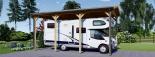 Carport aus Holz für Wohnmobil, 3.5x7 m visualization 2