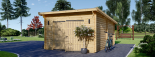Holzgarage MODERN (44 mm) 4x6 m, 24 m² mit Flachdach visualization 4