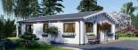 Isoliertes Blockbohlenhaus ALICE 72 m² visualization 7