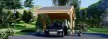 Carport aus Holz für 1 Auto CORA, 3x6 m visualization 7
