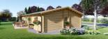 Isoliertes Blockhaus LIMOGES 103 m² visualization 5