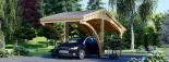 Carport aus Holz für 1 Auto CORA, 3x6 m visualization 6