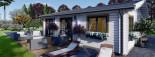 Isoliertes Blockbohlenhaus ALICE 72 m² visualization 10