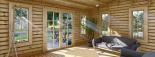 Blockbohlenhaus LEA (44 mm) 28 m² visualization 8