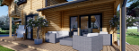 Blockbohlenhaus HOLLAND (44+44 mm) 106 m² visualization 10
