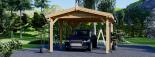 Carport aus Holz für 1 Auto CLASSIC, 3x6 m visualization 6