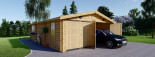 Doppelgarage aus Holz (44 mm) 6x8 m, 48 m² visualization 2