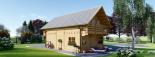 Blockbohlenhaus LANGON (66 mm) 108 m² mit extra Schneelast visualization 5