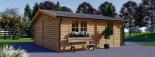 Holzgarage (44 mm) 6x5.7m,  34 m² / 75 m³ visualization 6