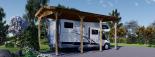 Carport aus Holz für Wohnmobil, 3.5x7 m visualization 3