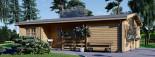 Isoliertes Blockbohlenhaus UZES 70 m² visualization 3