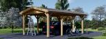Carport aus Holz für 1 Auto CLASSIC, 3x6 m visualization 3