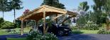 Carport aus Holz für 1 Auto CORA, 3x6 m visualization 2